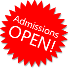 Admissions Open!